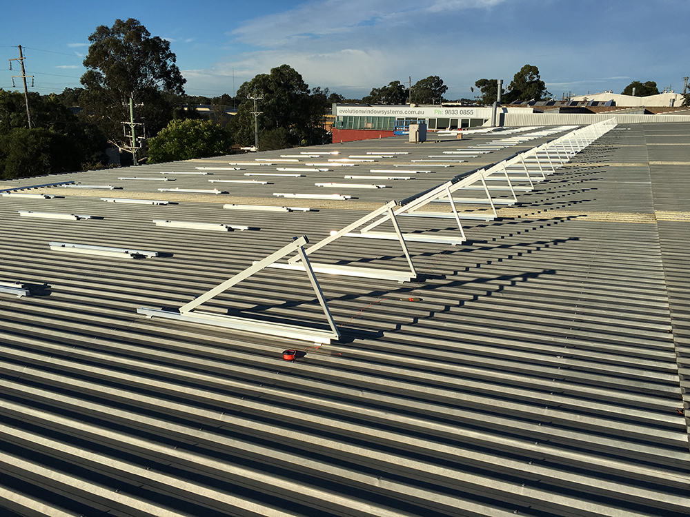commercial solar sydney racking